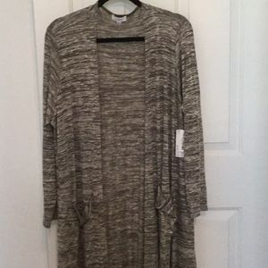 LuLaroe XL Sarah. Heathered Olive Green